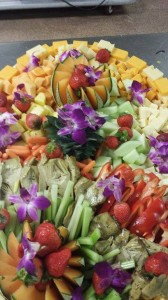 Fruit, Cheese, and Vegetable Display Combination Tray - Chesapeake Conference Center
