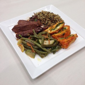 Sliced Sirloin with Demi-Glace, Chic Florentine, Wild Rice, and Mixed Vegetables - Chesapeake Conference Center